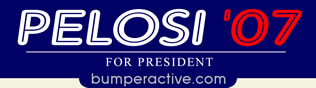 Pelosi 07 Bumper Sticker