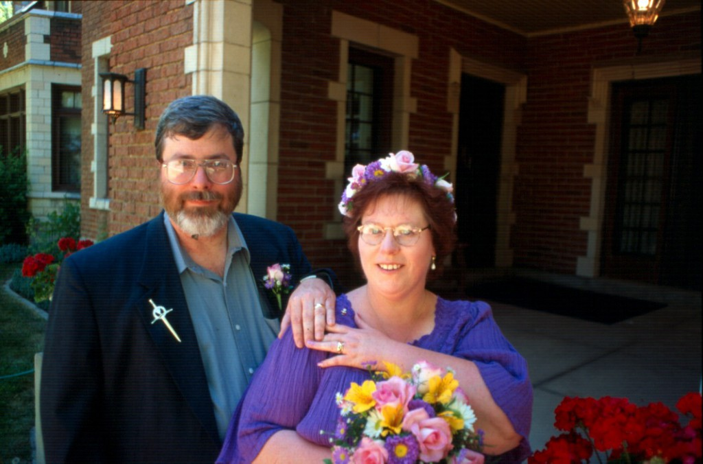 M. Douglas Wray and Marilyn Lawrence at Hoverhome in Longmont, CO - June 28, 1998